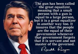 Ronald Reagan the great Equalizer